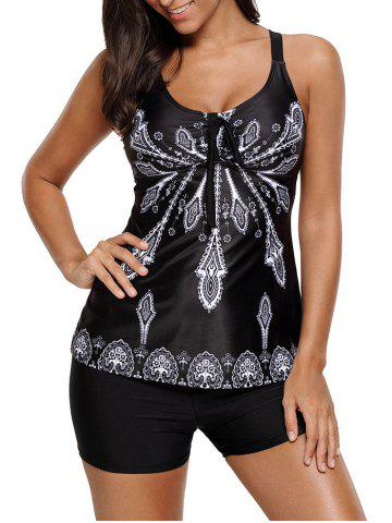 Outfit Padded Printed Tankini Set