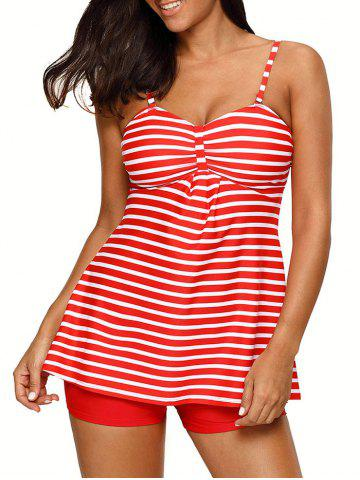 Ensemble à rayures push-up Tankini