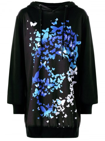 3D Butterfly Print Tunic Halloween Hoodie