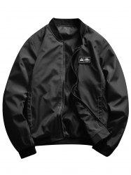 Rubber Patch Bomber Jacket -