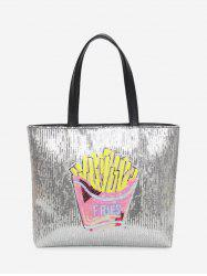 Sequins Chips Pattern Shoulder Bag - PINK