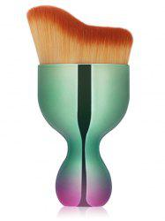 Oblate Wine Glass Design Makeup Foundation Brush - GREEN