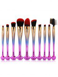 10Pcs Shell Shape Multifunction Gradient Color Brushes Set -