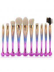 10Pcs Forme à coque Multifunction Gradient Color Brushes Set -