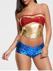 Sequins Women Hero Halloween Costume - COLORMIX M