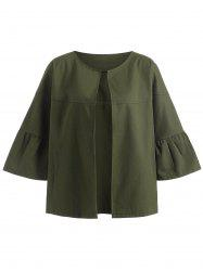 Military Jacket with Batwing Sleeve -