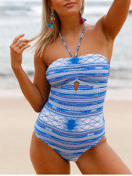 Lace Up Cross Back Swimsuit -