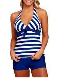Striped Halter Sailor Tankini Set -