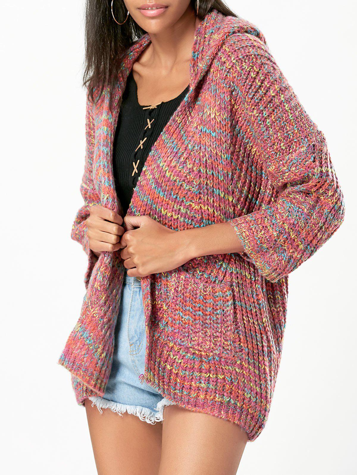 66f36d81d19 Hooded Rainbow Cardigan - One Size