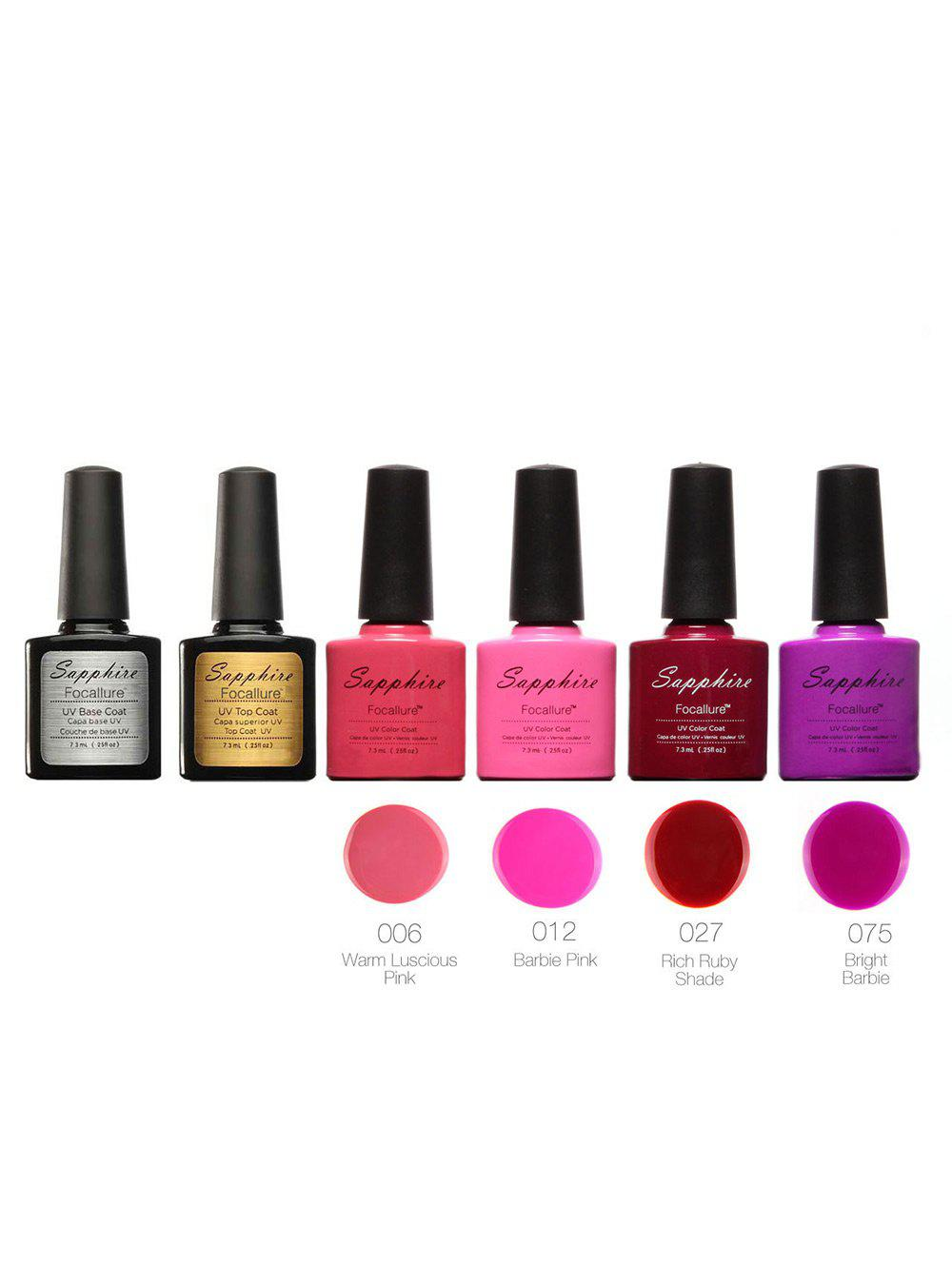 Trendy Waterproof Sapphire 4 Colors Kit UV Gel Polish Set