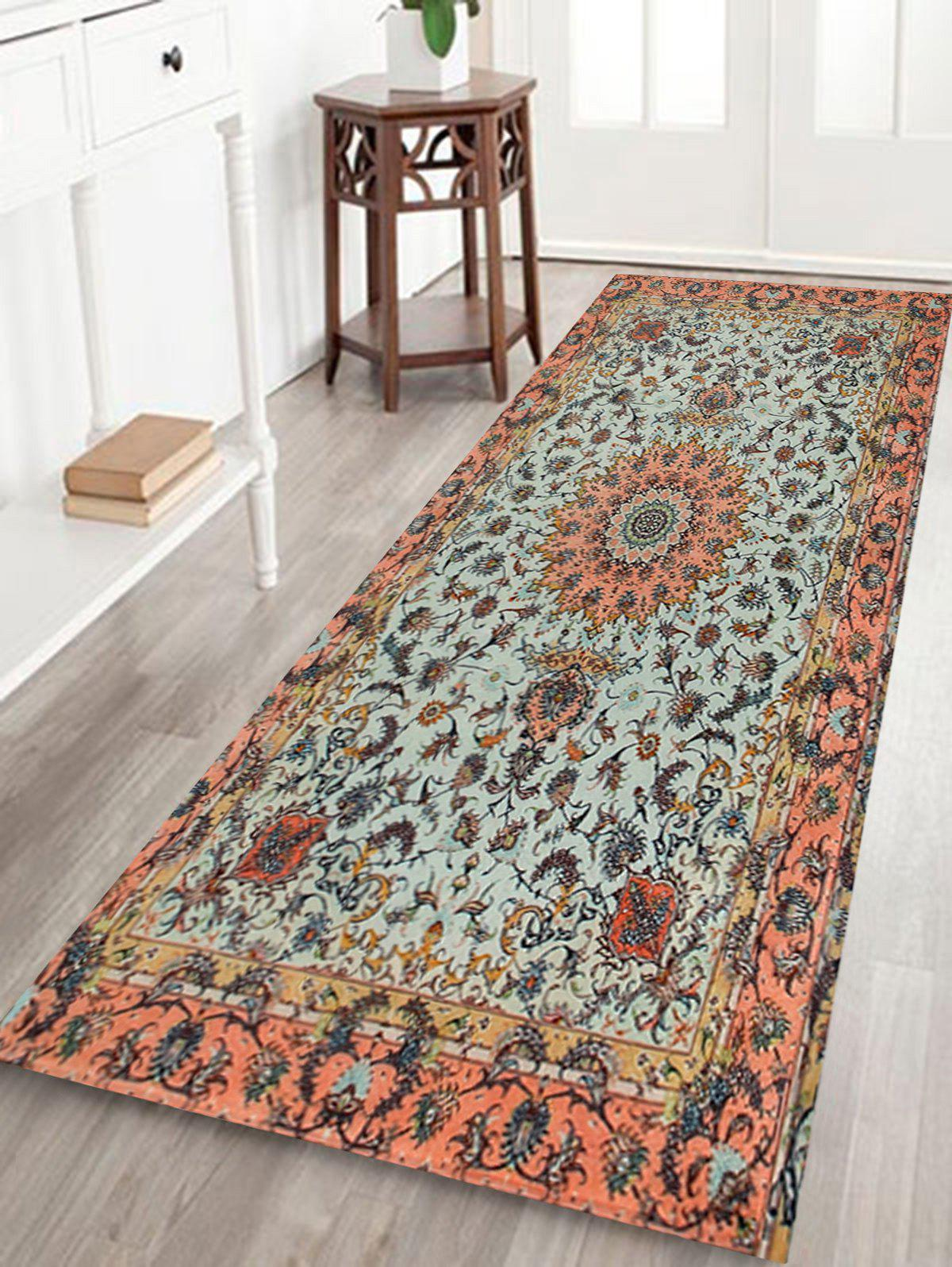 Persian Style Anti Slip Floor Area RugHOME<br><br>Size: W24 INCH * L71 INCH; Color: COLORMIX; Products Type: Bath rugs; Materials: Coral FLeece; Pattern: Floral; Style: Ethnic; Shape: Rectangle; Package Contents: 1 x Rug;