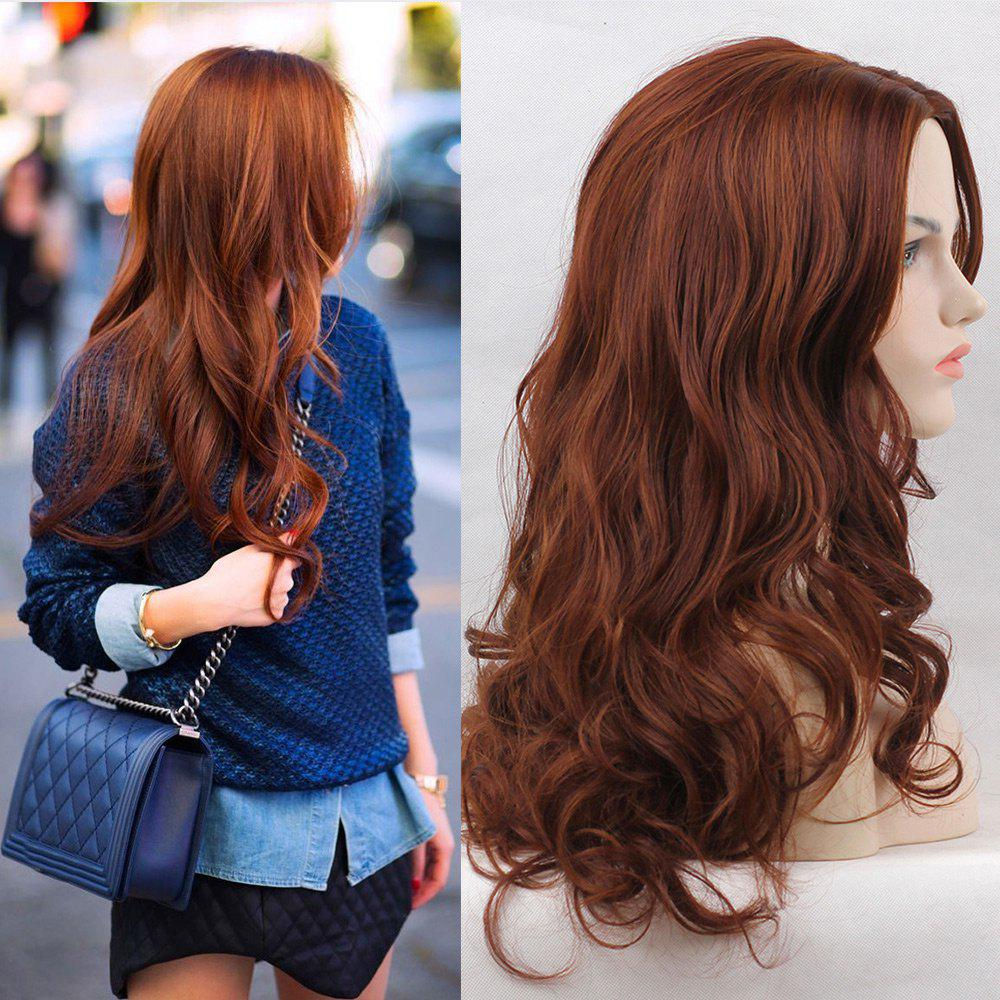 Long Middle Part Colormix Layered Wavy Synthetic WigHAIR<br><br>Color: COLORMIX; Type: Full Wigs; Cap Construction: Capless; Style: Wavy; Material: Synthetic Hair; Bang Type: Middle; Length: Long; Length Size(CM): 58; Weight: 0.2100kg; Package Contents: 1 x Wig;