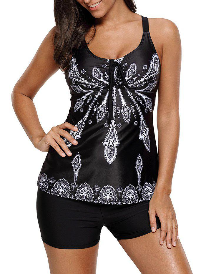 Outfits Padded Printed Tankini Set