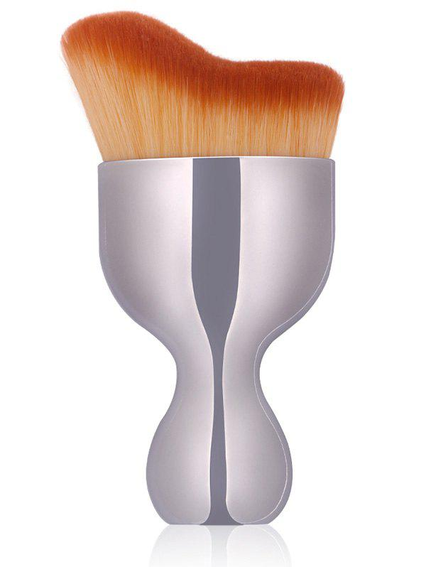 Oblate Wine Glass Design Makeup Foundation BrushBEAUTY<br><br>Color: SILVER; Category: Foundation Brush; Brush Hair Material: Synthetic Hair; Features: Professional; Season: Fall,Spring,Summer,Winter; Weight: 0.0500kg; Package Contents: 1 x Brush;
