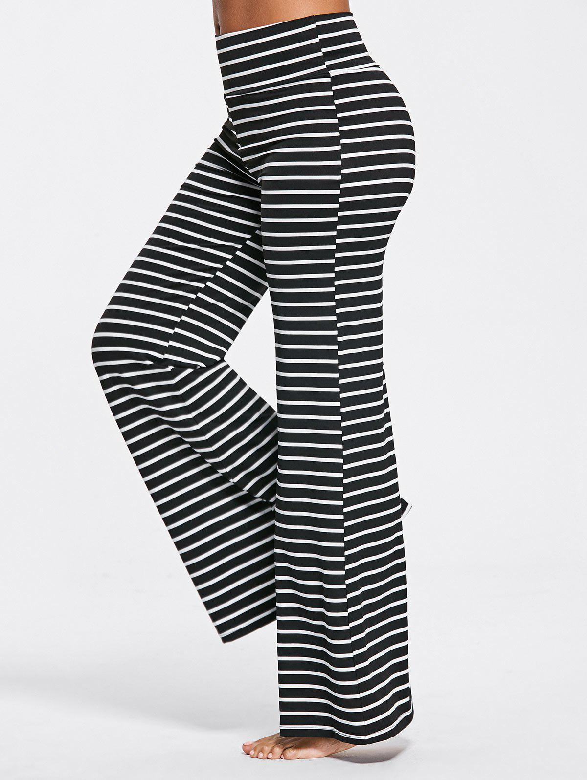New Stripe High Waisted Bell Bottoms Pants