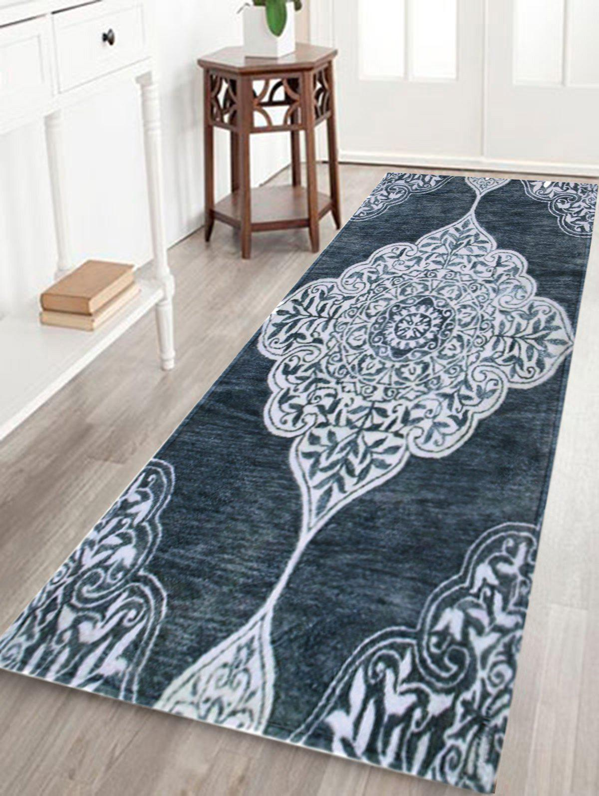 Home Decor Persian Totem Printed CarpetHOME<br><br>Size: W24 INCH * L71 INCH; Color: SMOKY GRAY; Products Type: Bath rugs; Materials: Coral FLeece; Pattern: Print; Style: Bohemian; Shape: Rectangular; Package Contents: 1 x Rug;