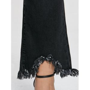Plus Size Bootcut Frayed Jeans -