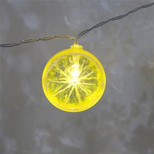 Festive Furnishing LED Lemon Shape String Lights - GREEN AND YELLOW