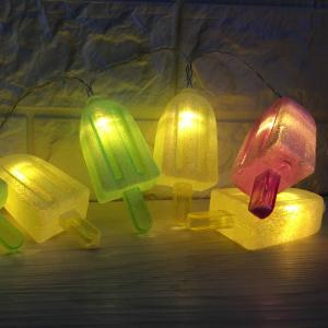 10 LED Ice-lolly Shape String Lights - COLORFUL