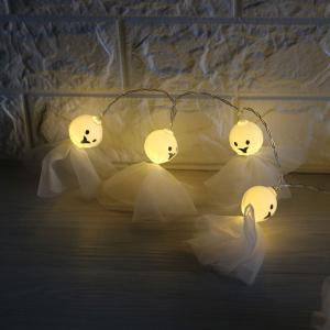Halloween Party Decor Cartoon Ghost Shape String Lights - WHITE