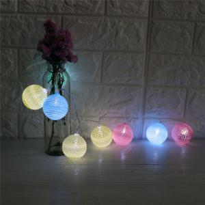 Colorful Cracked Ball Shape LED String Lights -