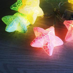 Colorful LED Crack Stars Shape String Lights -