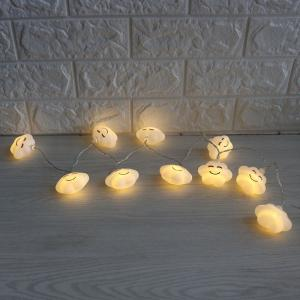 Cute Cloud Shape LED String Lights - WHITE