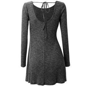 Plus Size Asymmetrical Drawstring Jumper -