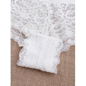 See Through Lace Sexy Panties - Blanc M