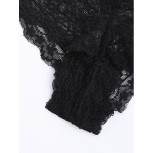 See Through Lace Sexy Panties - Noir L