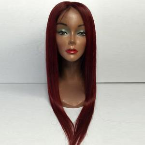 Middle Part Long Straight Lace Front Human Hair Wigs -