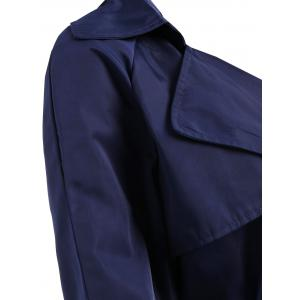 Trench-Coat Col Châle à Double Boutonnage Grande Taille -