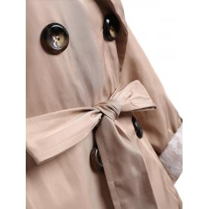 Double Breasted Lapel Plus Size Trench Coat -
