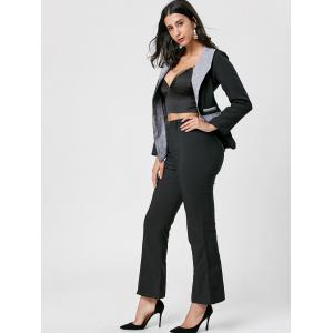 One Button Blazer - BLACK XL