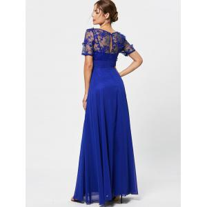 Floral Lace See Thru A Line Prom Evening Dress -