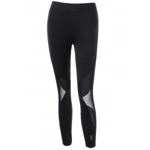 Mesh Trim Stirrup Leggings -