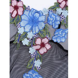 Floral Patched Mesh Fishnet Teddy -