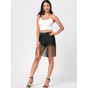 Lace Fringed Shorts -