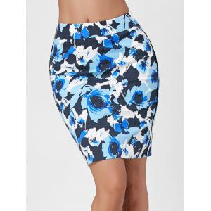 Floral Tight Skirt -