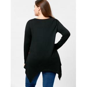 Plus Size Long Sleeve Handkerchief Tee -