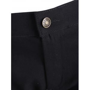 Plus Size Casual Zipper Fly Pants -