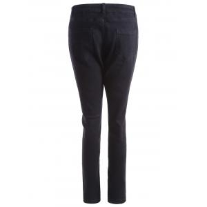 Plus Size Skinny Zipper Fly Jeans -