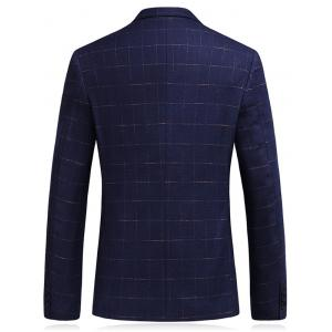 Lapel Single Breasted Checked Blazer -