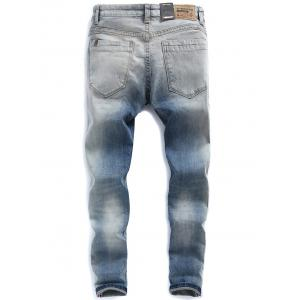 Light Wash Ombre Distressed Jeans -