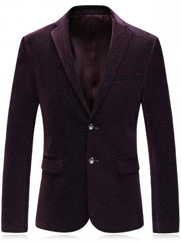 Store Single Breasted Lapel Collar Corduroy Blazer