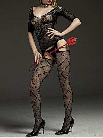Sheed Fishnet Cut Out Bodystockings Noir TAILLE MOYENNE
