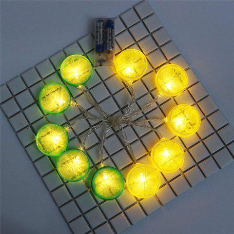 Outfit Festive Furnishing LED Lemon Shape String Lights - GREEN AND YELLOW  Mobile