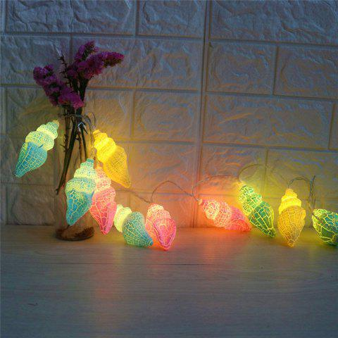 Fancy Holiday Decoration Conch Shape LED String Lights - COLORFUL  Mobile