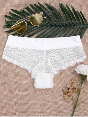 See Through Lace Sexy Panties Blanc L