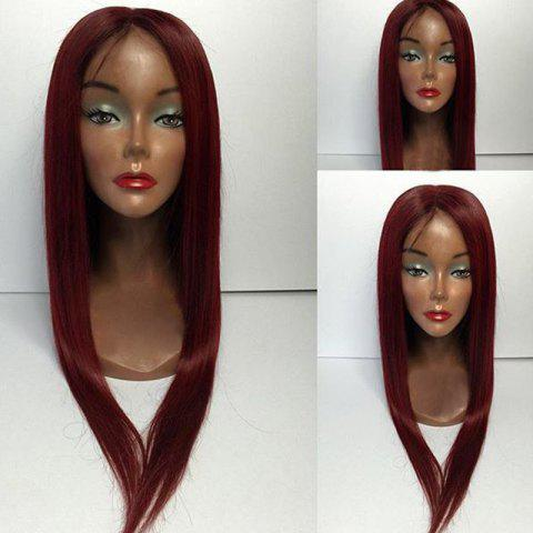 Cheap Middle Part Long Straight Lace Front Human Hair Wigs